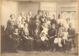 Familiefoto opa, oma en moeder