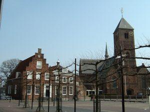 Naaldwijk_kerk_met_Wilhelminaplein 18e eeuw