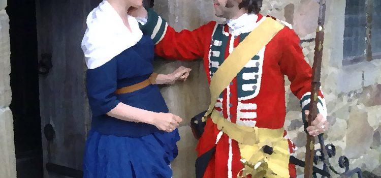 Infanterist Thomas Opten uit Engeland trouwt met Duitse Anna